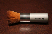 Vegan, short-handled, flat-top brush, specially designed to handle our dense pigment minerals.